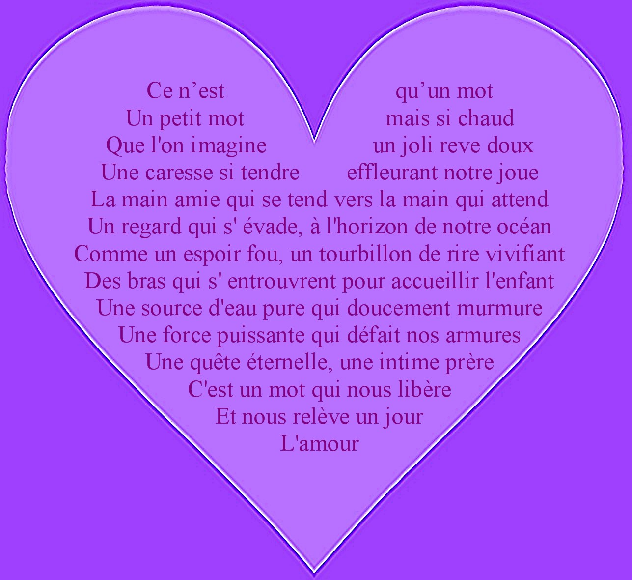 Poeme Love Coeur